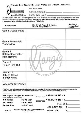 2015-2016 MHS Goal Tenders Football Order Form