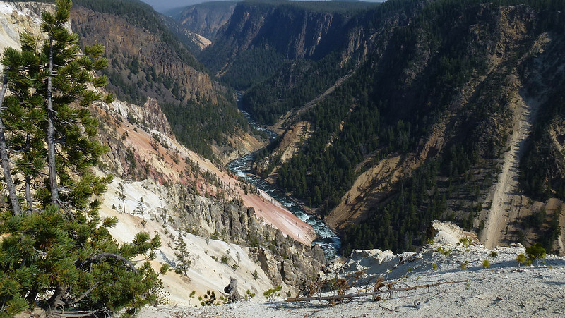 More of the canyons in Yellowstone They call it the Grand canyon of the Yellowstone Park