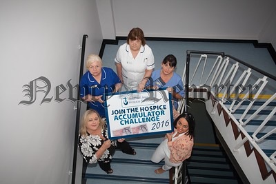 Hospice call for local businesses to take part in the Accumulator Challenge 2016. Pictured at the launch are Judith McMahon (Principal Sponsor) with Fiona Stephens, Eileen Kerr, Ailish Courtney and Michelle McGarry. To register a team please contact Fiona on 02830251333 or email stephens@southernarehospiceservices.org. R1632001