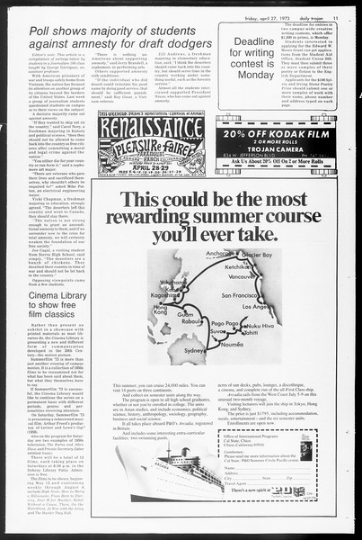 Daily Trojan, Vol. 65, No. 115, April 27, 1973