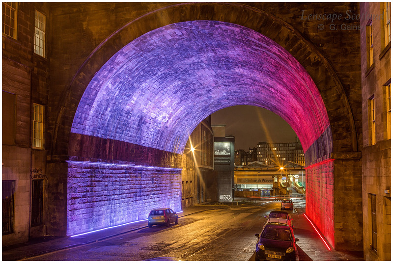 Calton Road bridge under Waterloo Place
