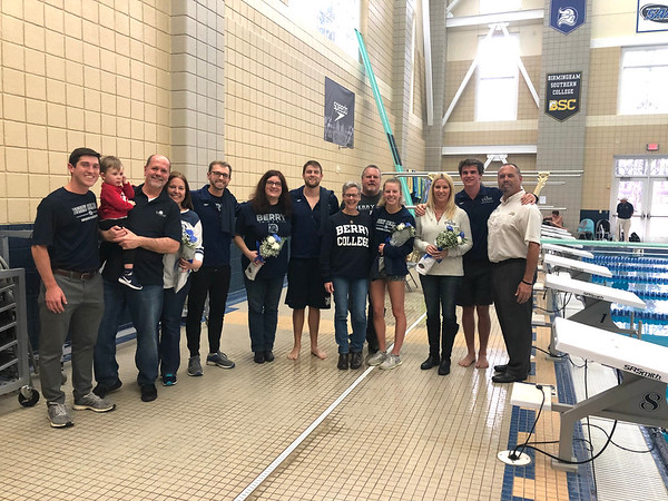 Swimming Senior Day 2019