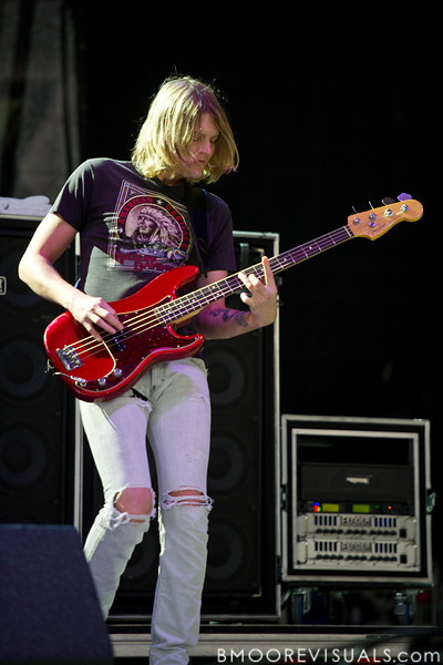 Daniel Tichenor of Cage The Elephant performs on December 3, 2011 during 97X Next Big Thing at 1-800-ASK-GARY Amphitheatre in Tampa, Florida