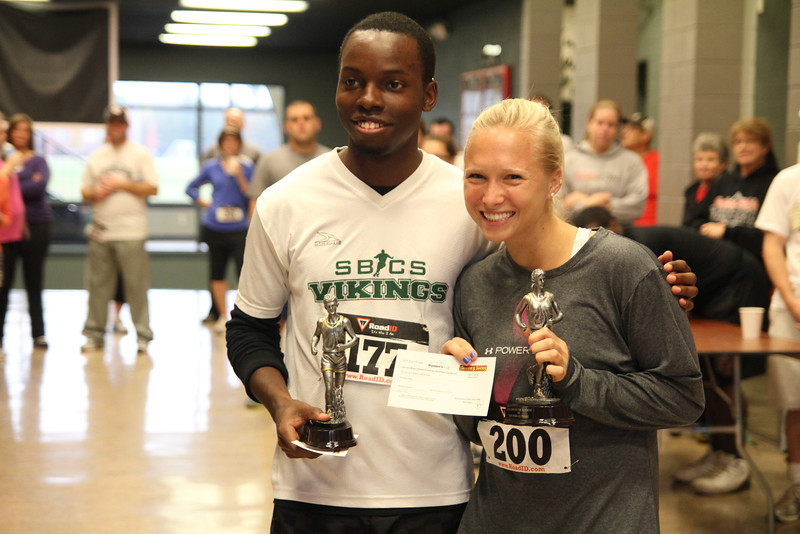 Runners rise early to sign in and take their mark in the Third Annual 5k