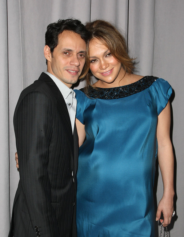 . NEW YORK - FEBRUARY 06:  Musicians Marc Anthony and Jennifer Lopez attend the Marchesa Fall 2008 fashion show during Mercedes-Benz Fashion Week Fall 2008 at Chelsea Art Museum on February 6, 2008 in New York City.  (Photo by Andrew H. Walker/Getty Images for IMG)