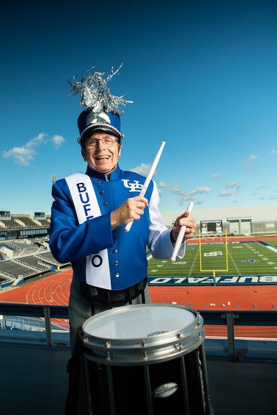 200409 Advancement, Tom OConnor, Marching Band, UB Stadium