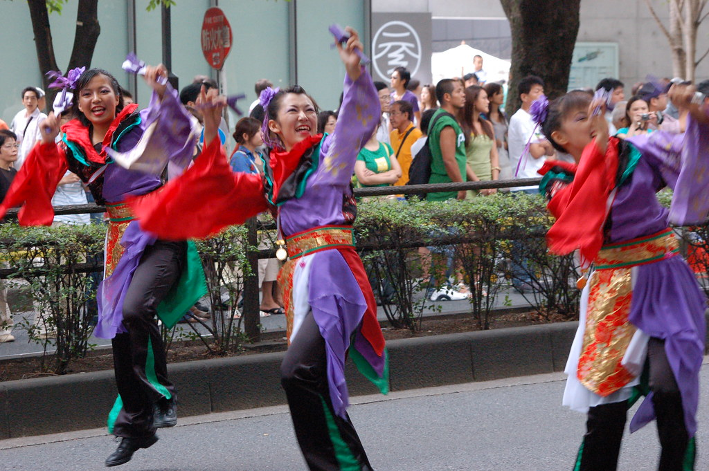 Performing team at the Yosakoi Festival.