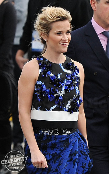 Reese Witherspoon Stuns In Tousled Messy Bun With Husband Jim Toth