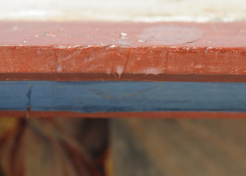 Vorzustand: Anna Altar, Predella, Vorderseite Mitte oben, Wachs AAF_0984_27-10-2011