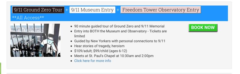 Museum WTC  - Sat., Aug. 20, 2016