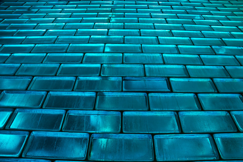 Blue Glass Bricks Background