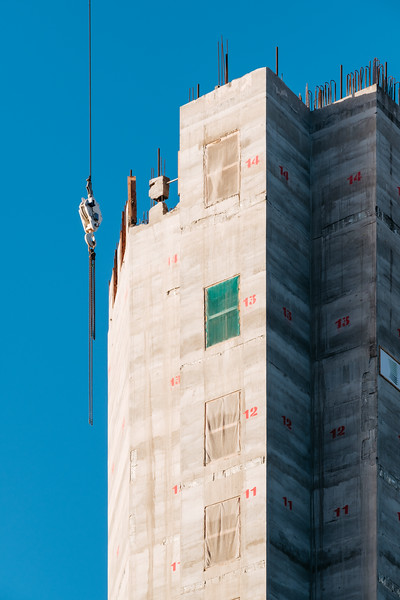 Detail of a London construction site