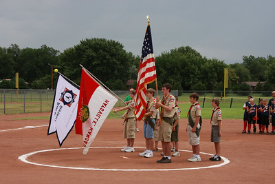 2009 July Baseball Flag Ceremony