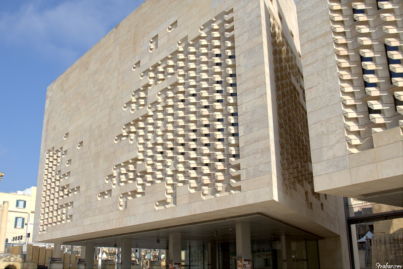 Valletta, Malta.     New Parliament building on Republic Street.