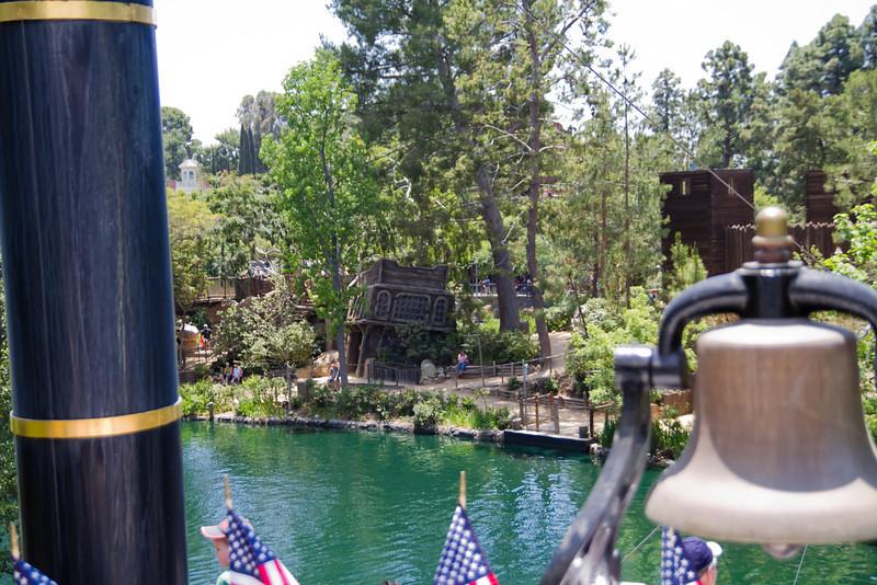 Pirates Play Area on Tom Sawyer's Island from the Mark Twain Riverboat Wheelhouse