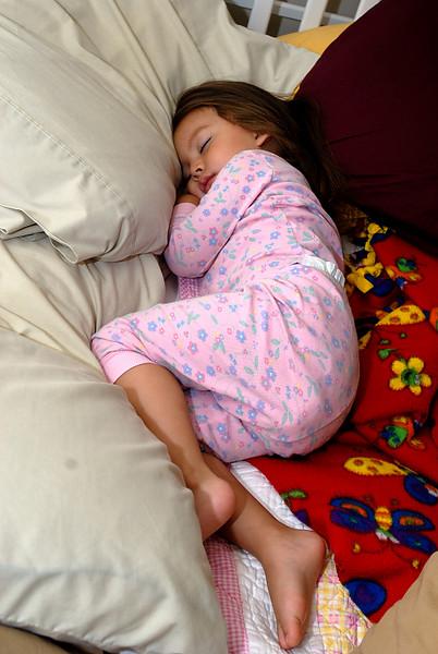 9/29/07 Madeline sleeping