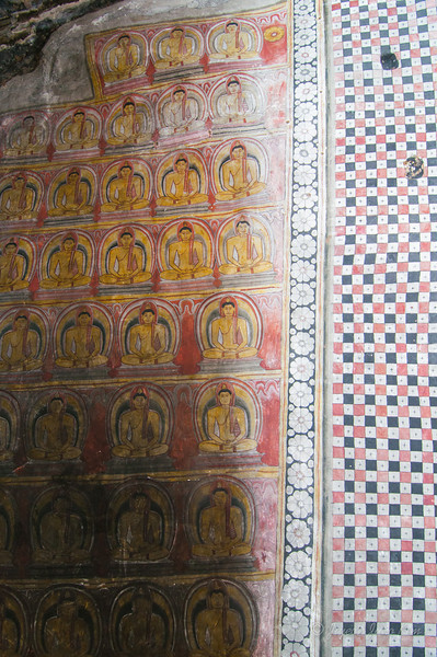 Dambulla Cave Temple - ceiling mural