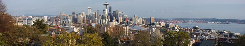 Seattle skyline panorama from Kerry Park