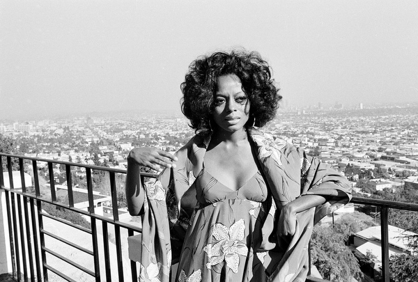 . Singer Diana Ross is pictured at her home on a balcony overlooking Hollywood, Ca., on March 30, 1971.  (AP Photo/Hal Filan)