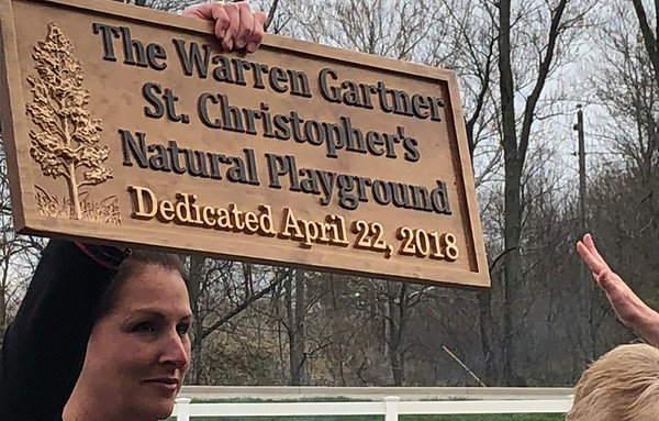 Warren Gartner Natural Playground Dedication