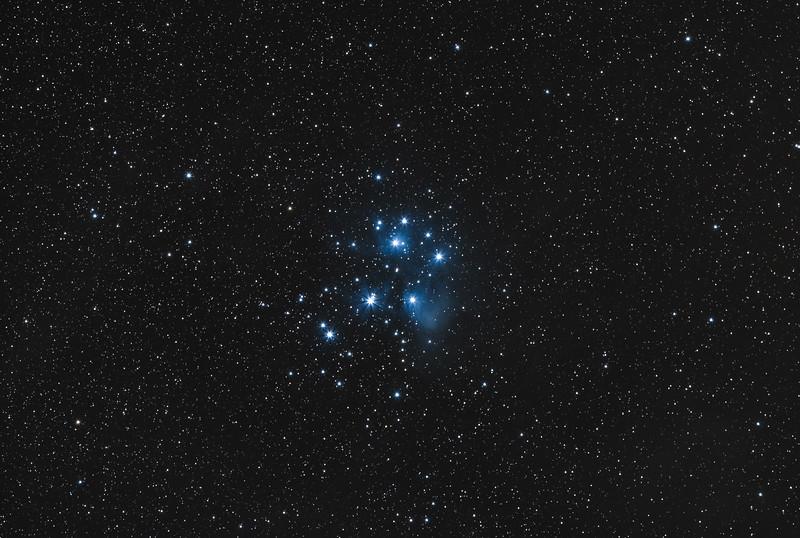 Messier 45 (The Pleiades, LightRoom Edition)