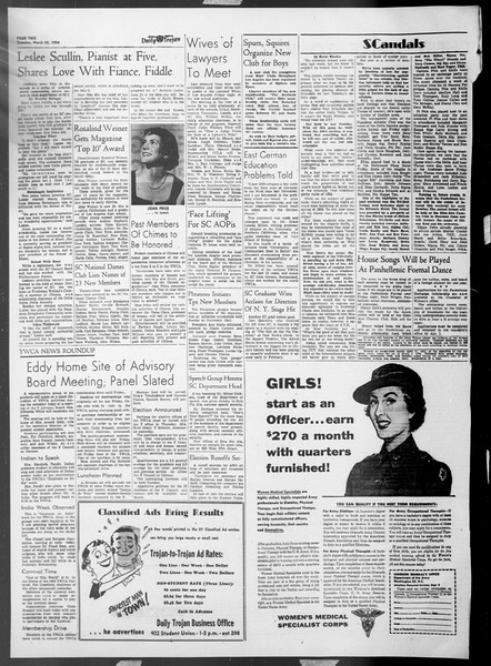 Daily Trojan, Vol. 45, No. 99, March 23, 1954