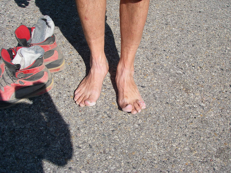 ... and, it was demanding tour - Zijo's legs at the parking lot.
