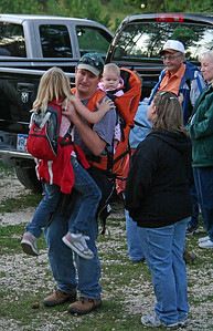 Did we mention all that Moon Walksare for hikers of all ages?  This gentleman has his hands full with a young girl in his arms and another youngster on his back.  Now that's dedication!