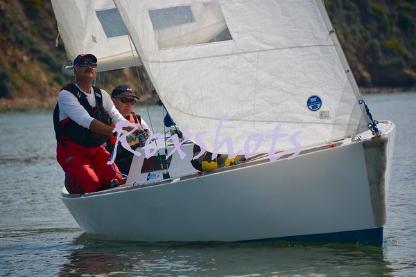 SFYC men's and women's team practicing match racing for the SF Cup on J/22's Sun. 3/24/19 on Richardson Bay.