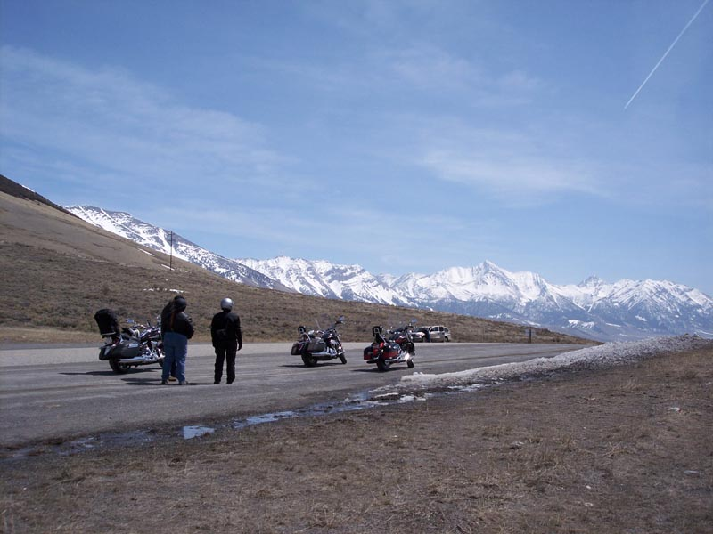 We stop to admire the view and visit with some other riders.