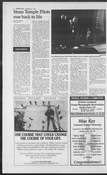 Daily Trojan, Vol. 129, No. 49, November 06, 1996