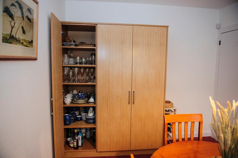 MDF Oak veneered storage units