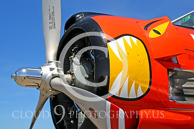 Sharkmouth North American T-28 Trojan Airplane Pictures