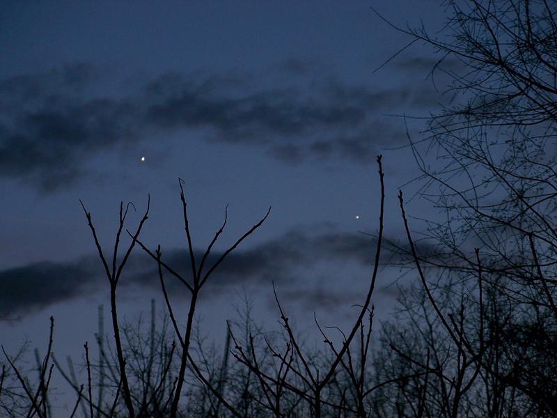 April 2, 2010 Venus and Mercury