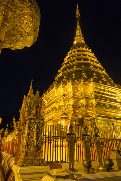 Wat Phra That Doi Suthep Temple at night