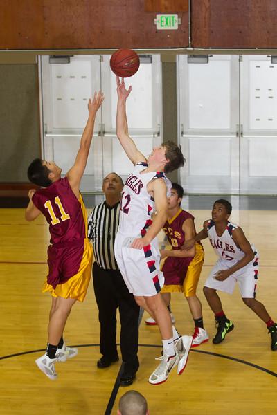 RCS Varsity Boys' Basketball vs CCS - Nov 27, 2012