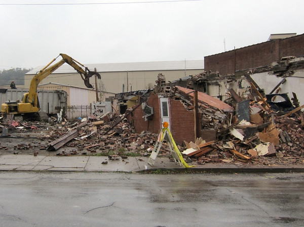 Demolition Underway - Oct 21, 2011