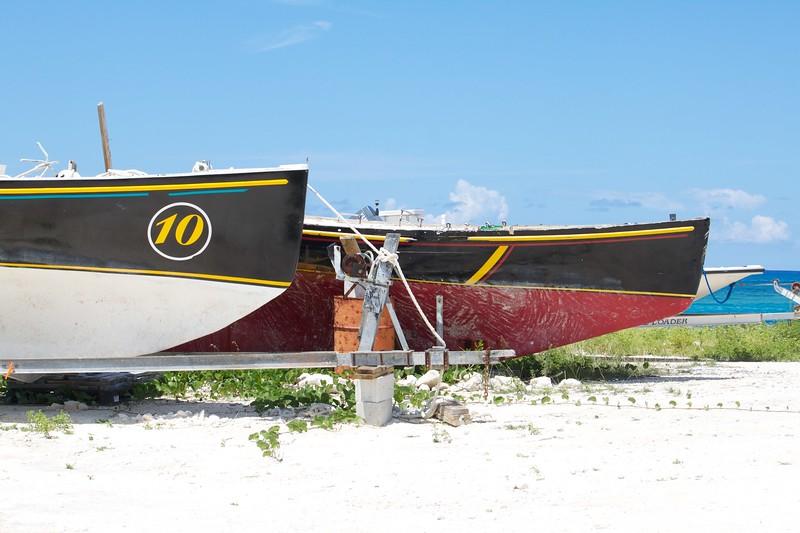 Regatta boats in Clarence Town