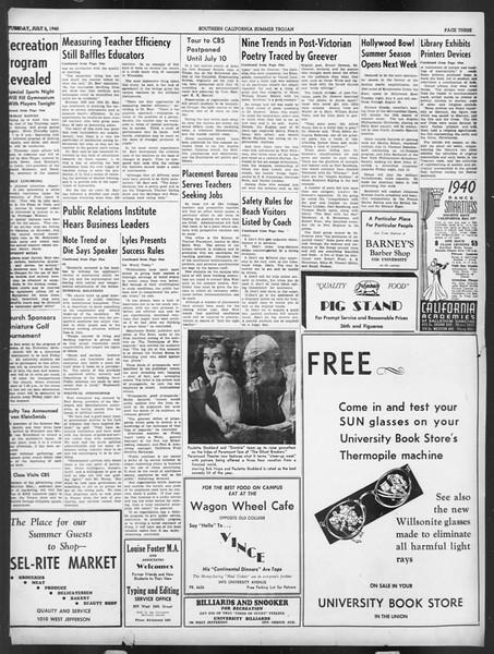Summer Trojan, Vol. 19, No. 3, July 02, 1940