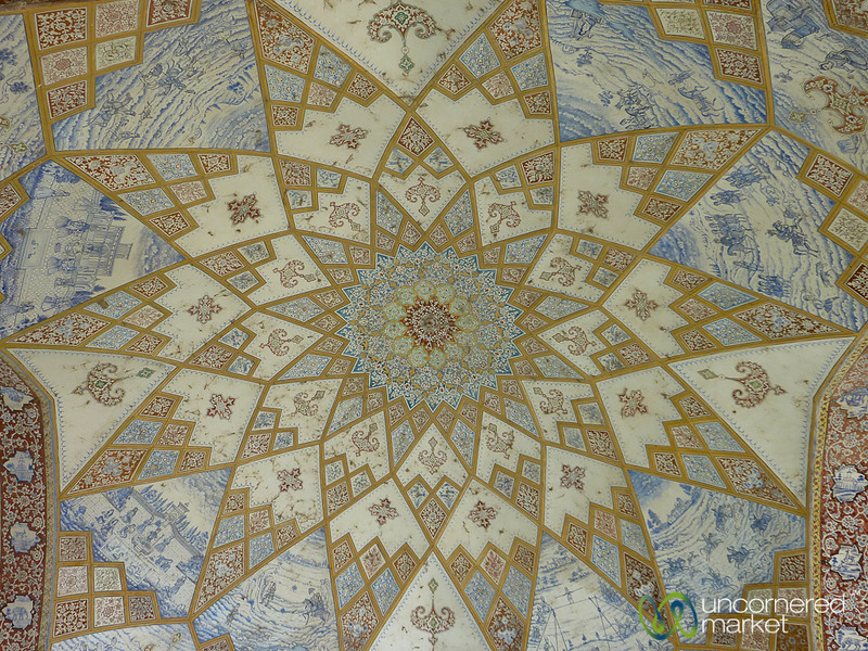 Persian Design Ceiling at Fin Gardens - Kashan, Iran