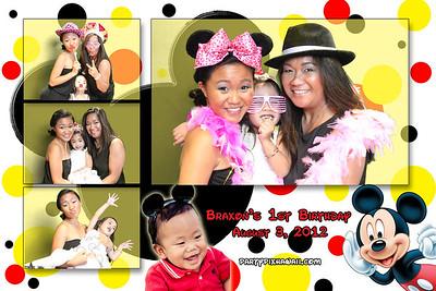 Braxon's 1st Birthday (Multi-Photo Collage)