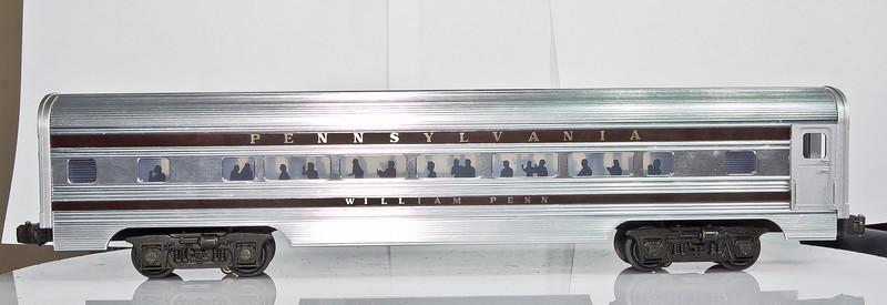 2543 PA Alum. William Penn Pullman Car - Williams