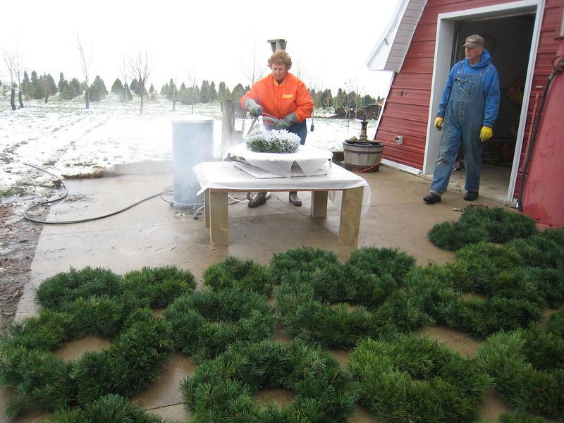 Marie flocking wreaths