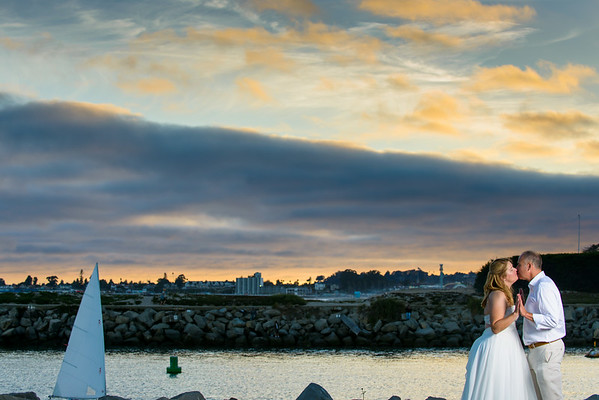 Heidi and Larry (Small Wedding Photography) @ Twin Lakes Beach, Santa Cruz, California