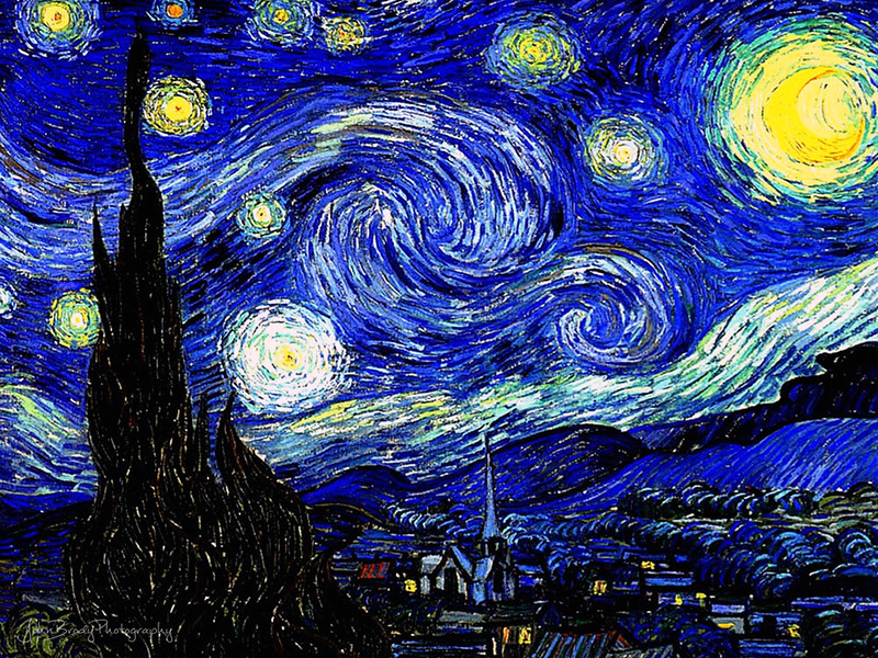 Vincent Van Gogh - Starry Starry Night 1889 - Museum of Modern Art, New York City - John Brody Photography --- JohnBrody.com