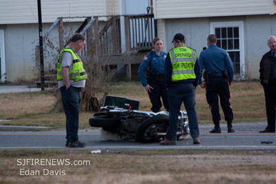 02-28-2012, Mortorcycle MVC, Glassboro, Gloucester County, Stanger Ave. and Academy St.