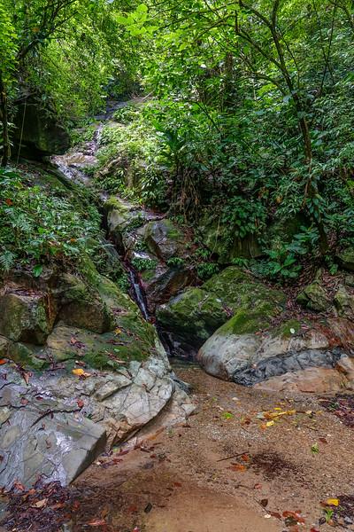 waterfall, Rio Santiago Resort, Honduras