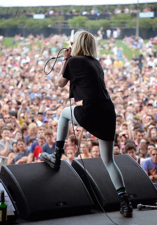 . CHICAGO, IL - AUGUST 02:  Alice Glass of Crystal Castles performs during Lollapalooza 2013 at Grant Park on August 2, 2013 in Chicago, Illinois.  (Photo by Theo Wargo/Getty Images)