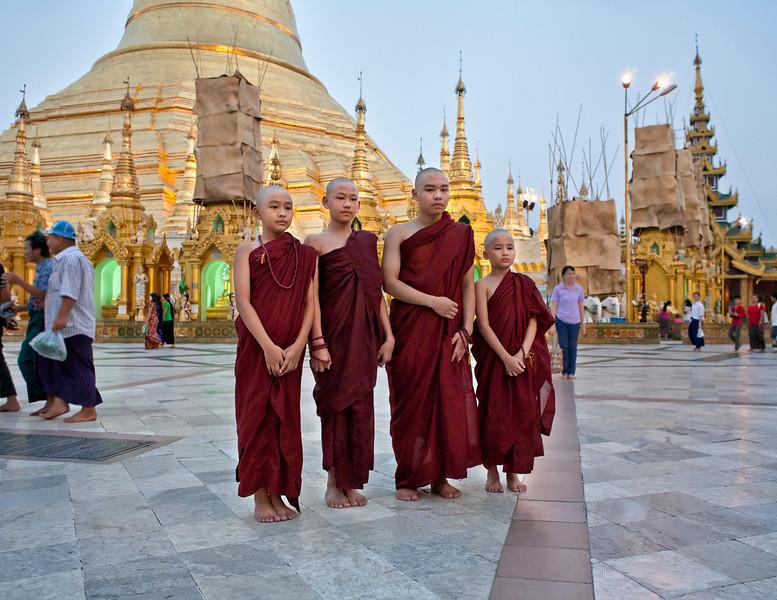Right of Passage at Shwedagon Pagoda. Yangon.