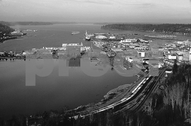 The view north over Capitol Lake and Budd Inlet in 1985.